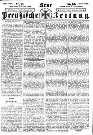 Neue preußische Zeitung on Feb 5, 1893