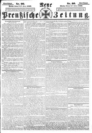 Neue preußische Zeitung vom 08.02.1893