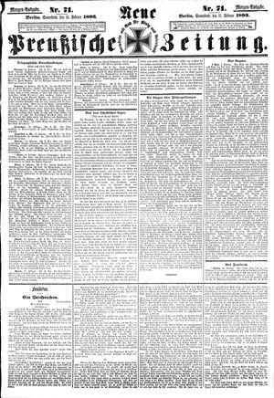Neue preußische Zeitung vom 11.02.1893