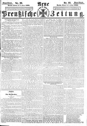 Neue preußische Zeitung vom 15.02.1893