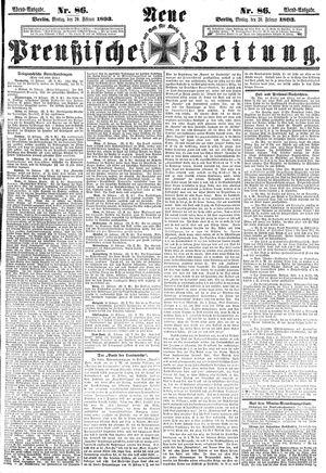 Neue preußische Zeitung vom 20.02.1893