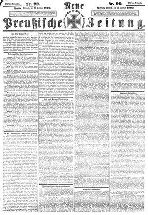 Neue preußische Zeitung vom 22.02.1893