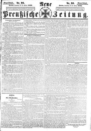 Neue preußische Zeitung vom 23.02.1893