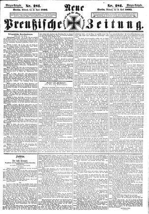 Neue preußische Zeitung vom 19.04.1893