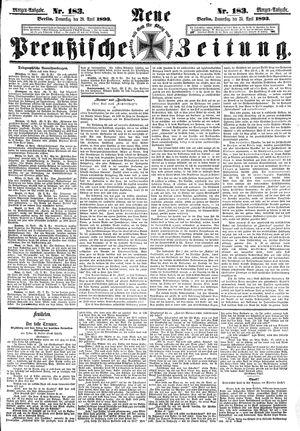 Neue preußische Zeitung vom 20.04.1893