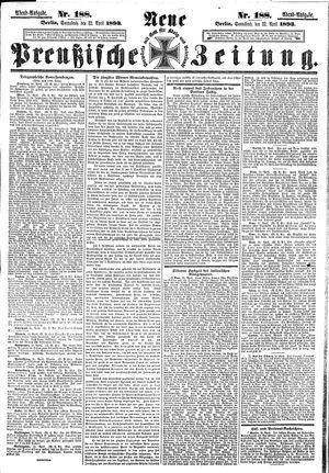 Neue preußische Zeitung vom 22.04.1893