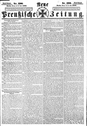 Neue preußische Zeitung vom 24.04.1893
