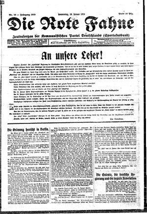 ˜Dieœ rote Fahne vom 16.01.1919