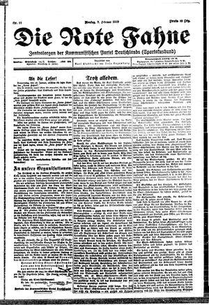 ˜Dieœ rote Fahne vom 03.02.1919