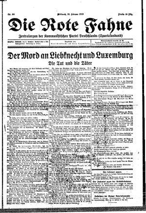˜Dieœ rote Fahne vom 12.02.1919