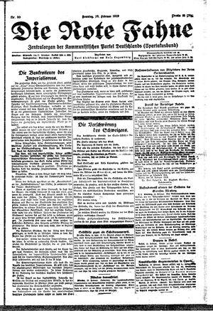 ˜Dieœ rote Fahne vom 16.02.1919