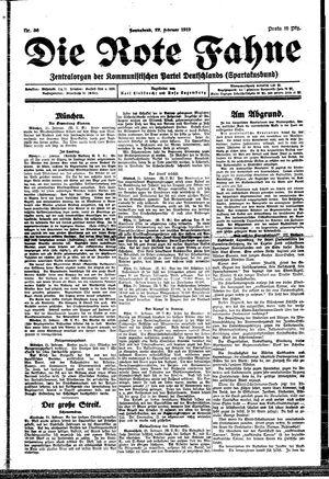 ˜Dieœ rote Fahne vom 22.02.1919