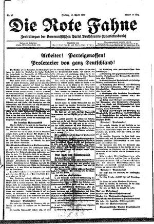 ˜Dieœ rote Fahne on Apr 11, 1919