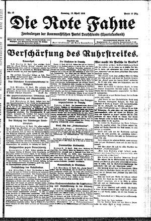 ˜Dieœ rote Fahne vom 13.04.1919