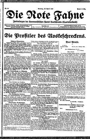 ˜Dieœ rote Fahne vom 20.04.1919