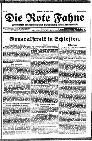˜Dieœ rote Fahne vom 29.04.1919
