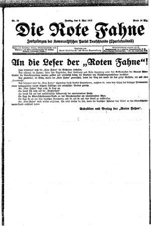 ˜Dieœ rote Fahne vom 09.05.1919