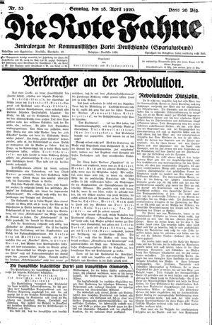 ˜Dieœ rote Fahne vom 18.04.1920