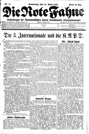 ˜Dieœ rote Fahne vom 22.04.1920