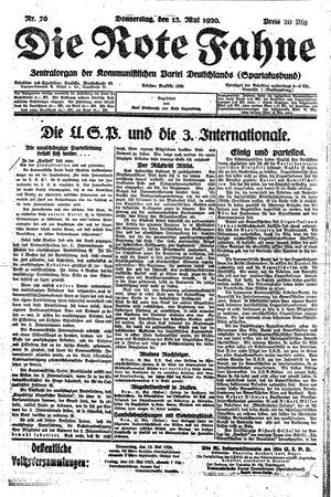 ˜Dieœ rote Fahne vom 13.05.1920