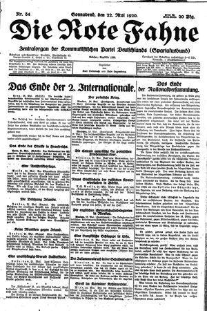 ˜Dieœ rote Fahne vom 22.05.1920