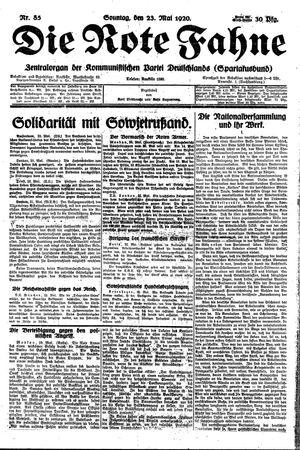 ˜Dieœ rote Fahne vom 23.05.1920