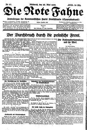 ˜Dieœ rote Fahne vom 26.05.1920