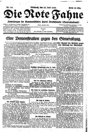 ˜Dieœ rote Fahne vom 23.06.1920