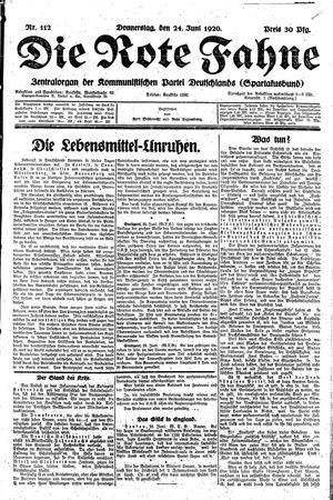 ˜Dieœ rote Fahne on Jun 24, 1920