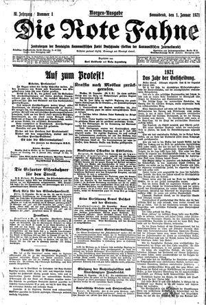 ˜Dieœ rote Fahne vom 01.01.1921