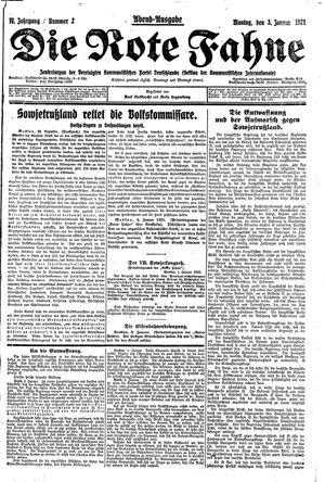 ˜Dieœ rote Fahne vom 03.01.1921