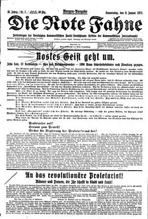 ˜Dieœ rote Fahne vom 06.01.1921