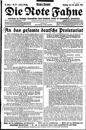 ˜Dieœ rote Fahne vom 16.01.1921