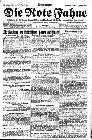 ˜Dieœ rote Fahne vom 18.01.1921