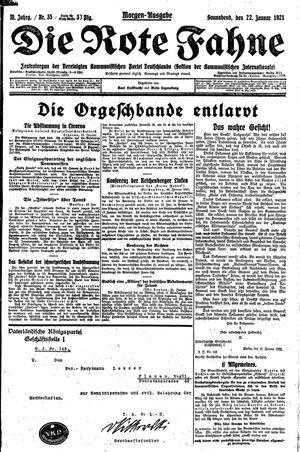 ˜Dieœ rote Fahne vom 22.01.1921
