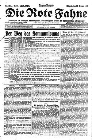 ˜Dieœ rote Fahne vom 16.02.1921