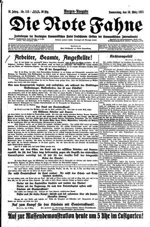 ˜Dieœ rote Fahne vom 10.03.1921