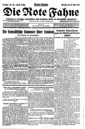 ˜Dieœ rote Fahne vom 16.03.1921