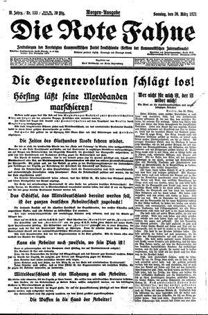 ˜Dieœ rote Fahne vom 20.03.1921