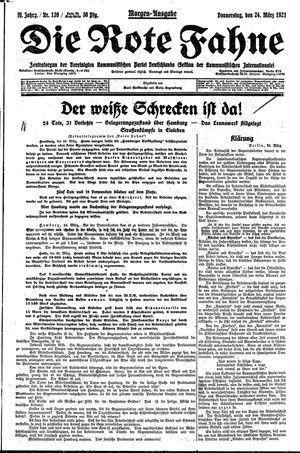 ˜Dieœ rote Fahne vom 24.03.1921