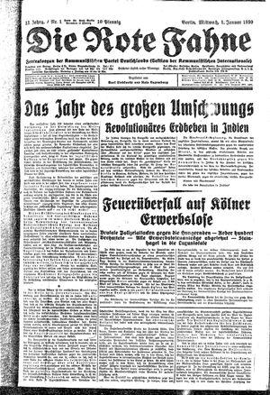 ˜Dieœ rote Fahne vom 01.01.1930