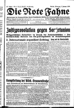 ˜Dieœ rote Fahne vom 07.01.1930