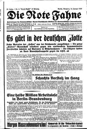 ˜Dieœ rote Fahne vom 14.01.1930