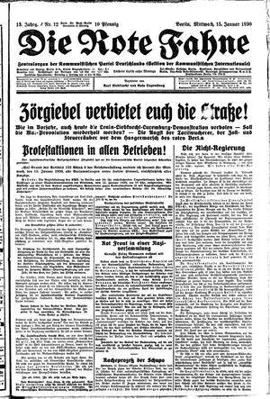 ˜Dieœ rote Fahne vom 15.01.1930