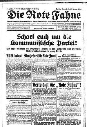 ˜Dieœ rote Fahne vom 18.01.1930