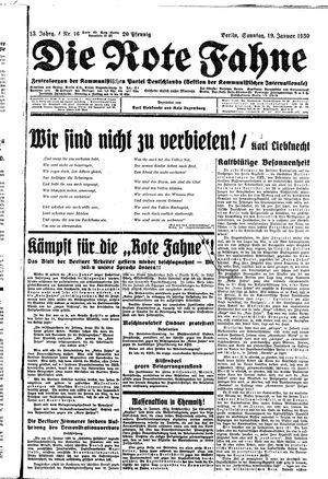 ˜Dieœ rote Fahne on Jan 19, 1930