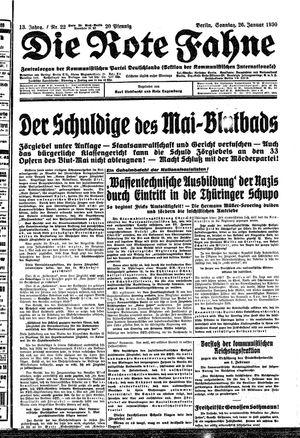˜Dieœ rote Fahne vom 26.01.1930