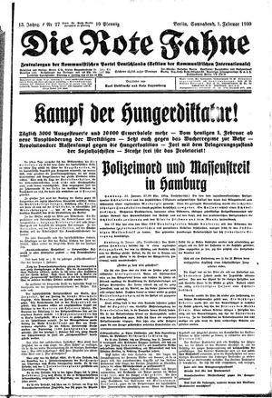 ˜Dieœ rote Fahne vom 01.02.1930