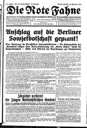 ˜Dieœ rote Fahne vom 14.02.1930