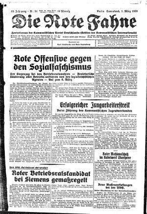 ˜Dieœ rote Fahne on Mar 1, 1930